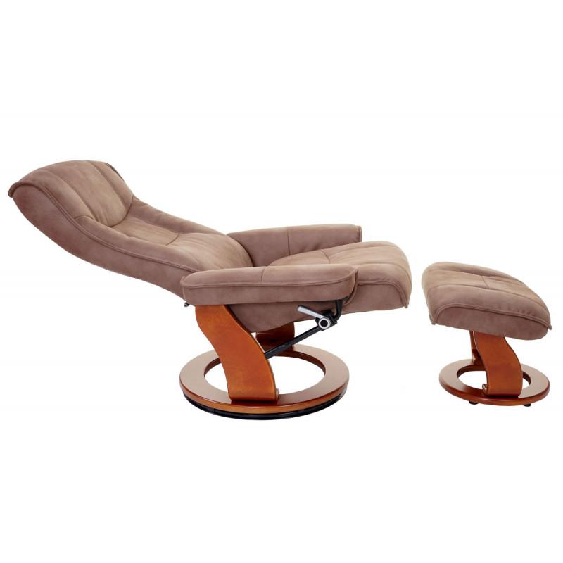 Fauteuil relax delux avec tabouret de fauteuil de télévision