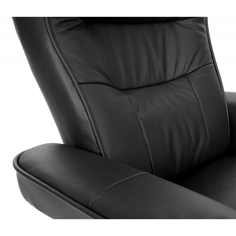 Tabouret de fauteuil de télévision dento noir miel
