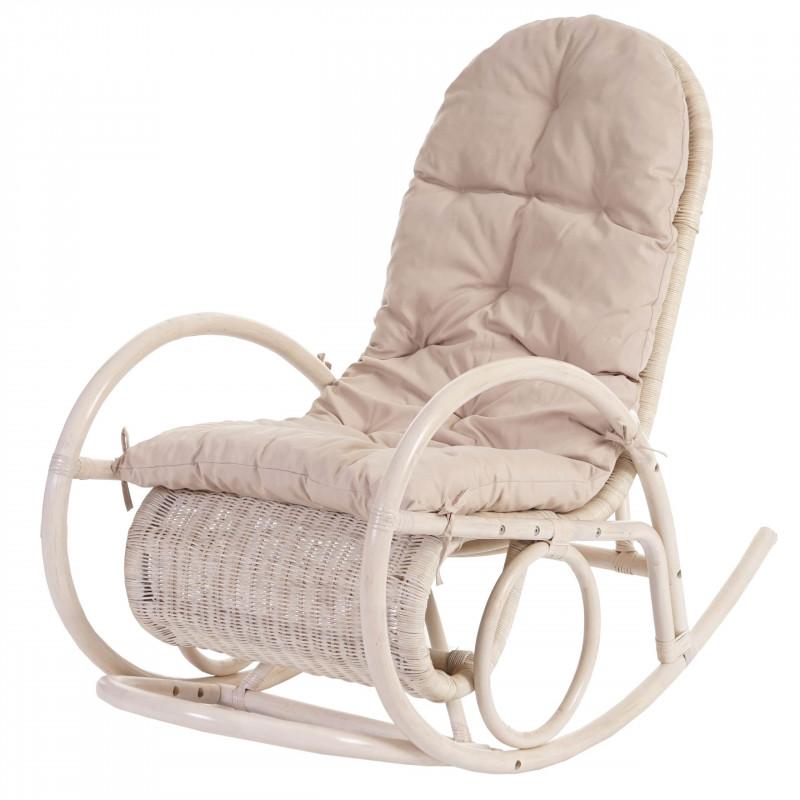 Chaise à bascule en rotin rustik
