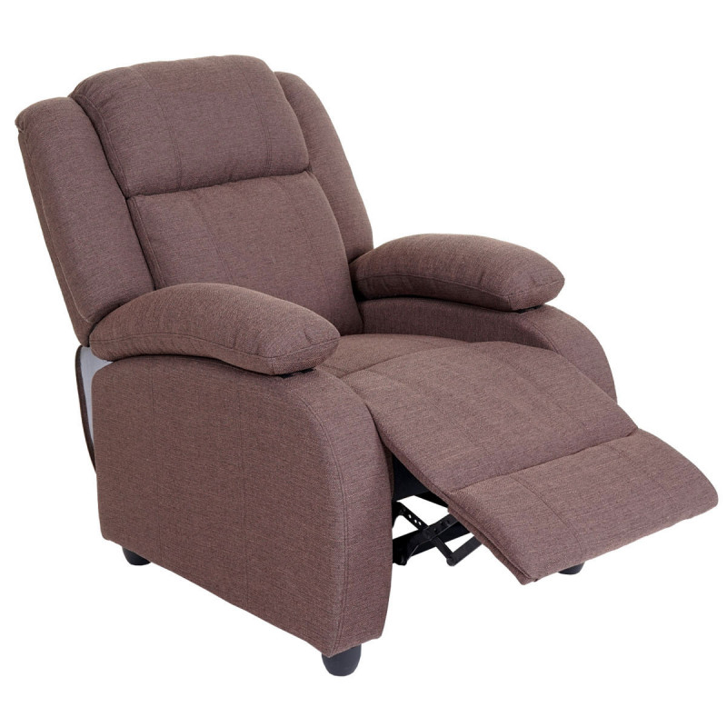 Fauteuil inclinable luxane tissu acajou