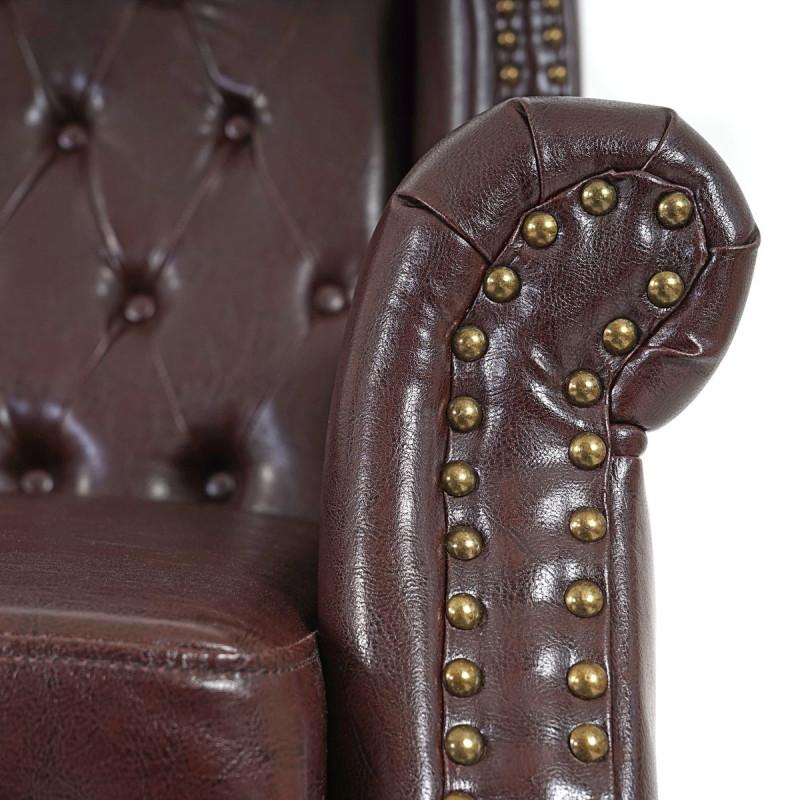 Fauteuil relax nix brun antique sans ottoman