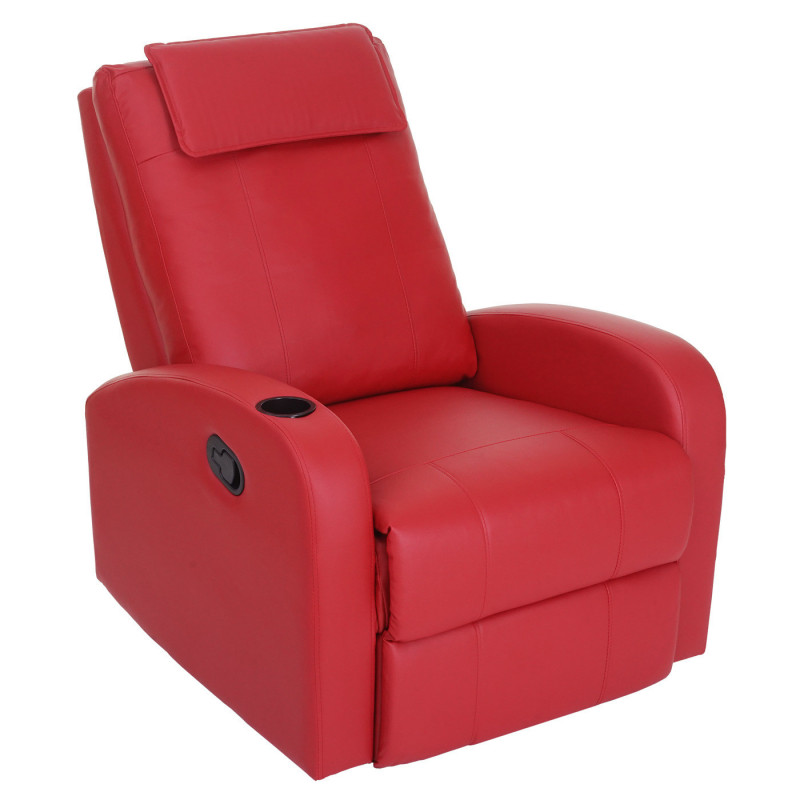 Fauteuil tv inclinable mazagan en cuir artificiel