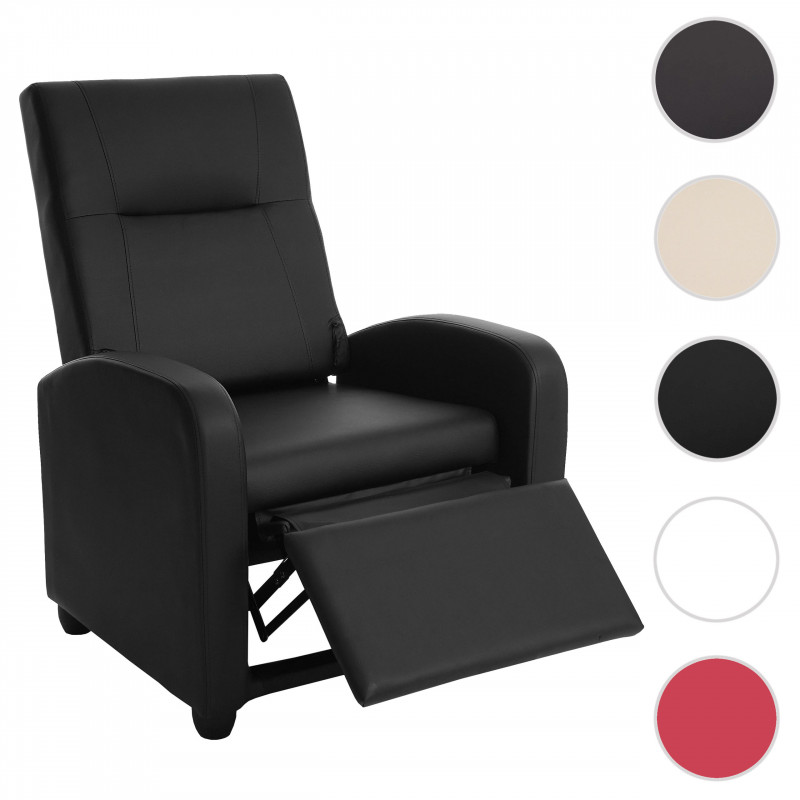 Fauteuil tv, fauteuil inclinable fauteuil inclinable, simili cuir ~ noir