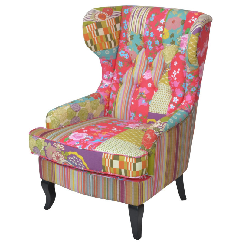 Fauteuil lounge chair exotic patchwork