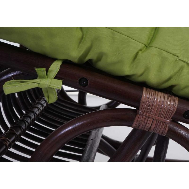 Fauteuil à bascule rotingam marron et vert